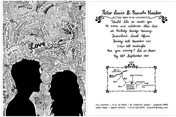 Wedding Philippines - Doodle Style Wedding Invitations by Rudi de Wet