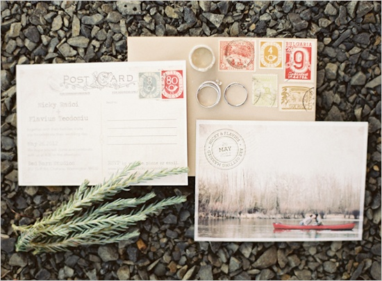 Postcard Wedding InvitationsPhoto by Erich McVey Photography via Wedding Chicks