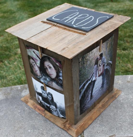 Photos as wedding decor wedding philippines wedding for Wedding mailbox decorating ideas